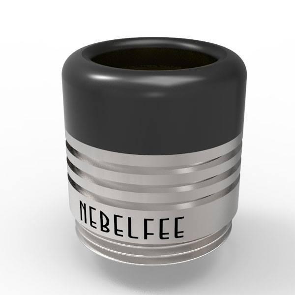 Nebelfee BT Drip Tip Schwarz/Silber