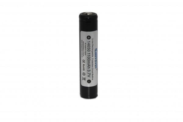 Keeppower 14650 - 1100mAh, 3,6V - 3,7V Li-ion Akku PCB geschützt